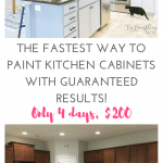 Fastest Way Paint Kitchen Cabinets Best Results Days Less Than