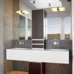 Faux Leather Paint Finish Bathroom Traditional Solid Surface Countertops