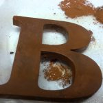 Faux Paint Rusted Metal Chipboard