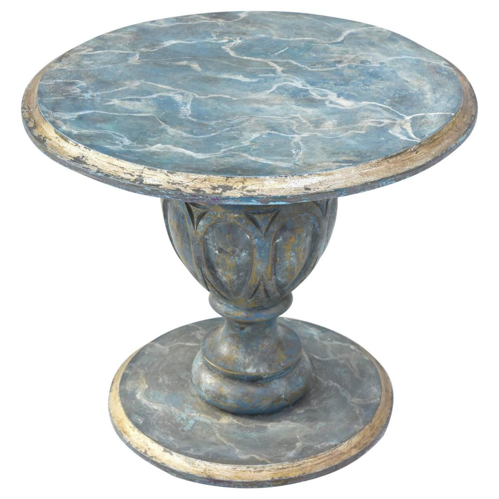 Faux Painted Small Italian Accent Table