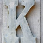 Feet Rustic Wooden Letter Distressed Painted