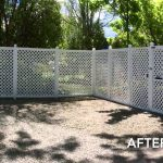 Fence Painting Staining Before After