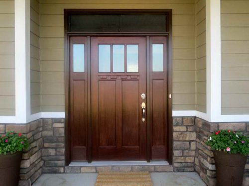 Fiberglass Front Doors Painting Ideas Finished Color