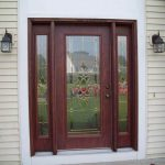 Fiberglass Front Doors Painting Ideas Two Hanging Lamps