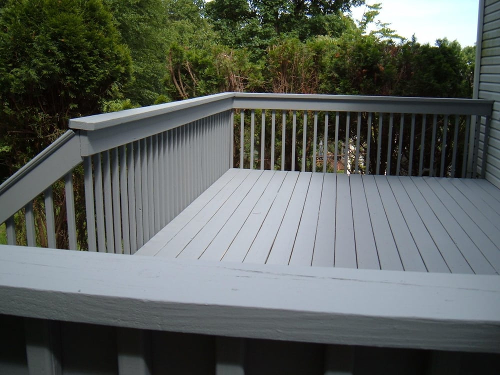 Finished Deck Benjamin Moore Arbor Coat Solid Latex Stain Color