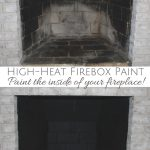 Fireplace Makeover Painting Firebox