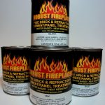 Fireplace Paint Water Based Heat Resistant Brush
