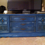 First Furniture Makeover Vintage Blue Ageing Chalk Paint Dresser She