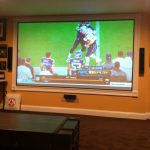Framed Wall Projector Screen Everything Goes Here Basement Small Home S