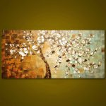 Frameless Panel Hand Painted Thick Palette Knife Painting Wall Art Modern