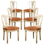 French Carved Painted Directoire Jansen Dining