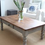 French Linen Coffee Table Finding Silver