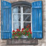 French Window Painting Nancy