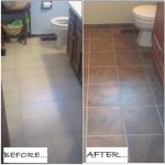 Fresh Paint Tile Floor Before After