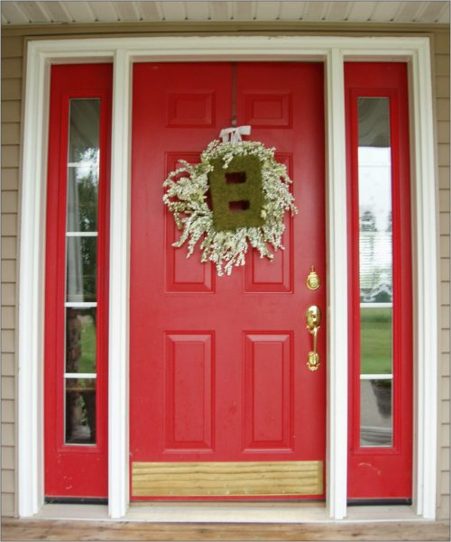 Front Doors Good Coloring Door Red Paint Color Colors
