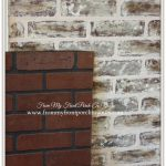 Front Porch Yours Diy Faux Brick Wall Tutorial Using Chalk