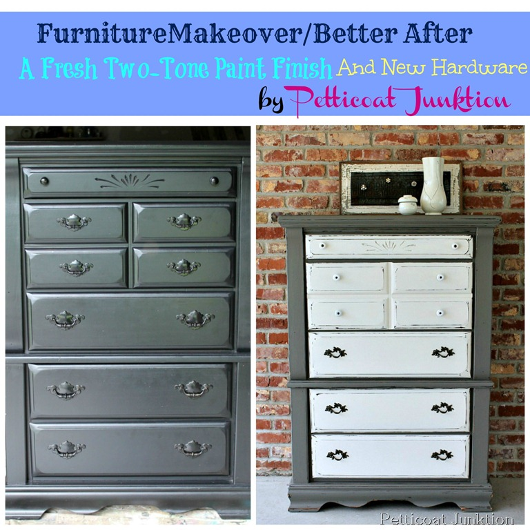 Furniture Makeover Before After Petticoat