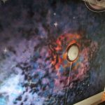 Galaxy Ceiling Wall Painting Spray Cut Out