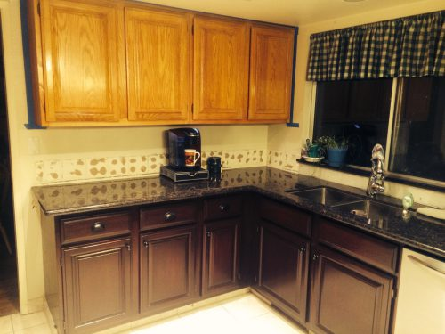 Gel Stain Kitchen Cabinets Colors Oak