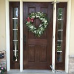 Gel Stained Fiberglass Door Used Old Masters Stain Over Painted