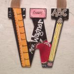 Gift Teacher Painted Wooden Letter Classroom
