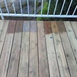 Giving New Life Our Old Wood Deck Get Look Emily