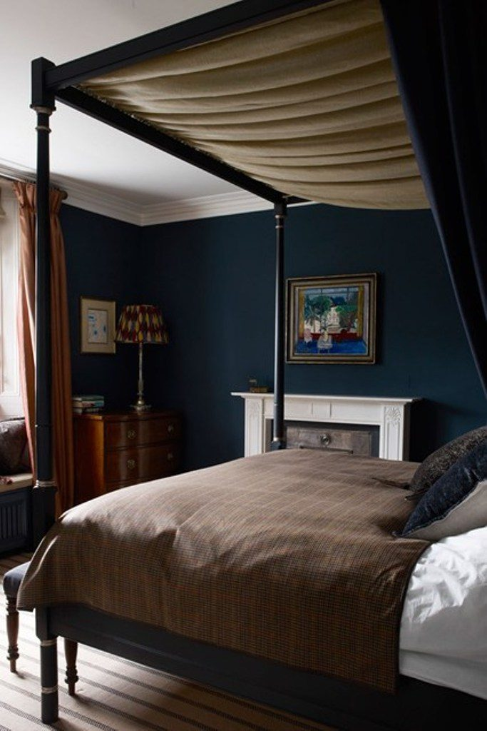 Glamorous Room Decorating Ideas Luxury Blue Paint Color Using Chic Canopy