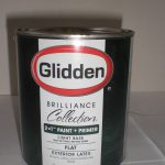 Glidden Brilliance Exterior Primer Paint Light Base Flat Quarts