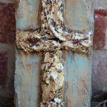 Gold Leaf Cross Painting