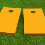 Gold Painted Cornhole Boards Bags Paint