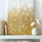 Gold Painted Wall Paint Glitter