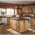 Good Paint Color Kitchen Cheap Colors Dark Wood Cabinets