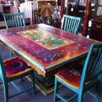 Gorgeous Hand Painted Table Chairs Now Can Decide Our Hmmm
