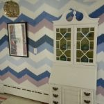 Gorgeous Shiny Things Painted Ikat Chevron