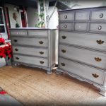 Grand Gray Painted Tall Dresser Bedroom Furniture Ideas Multi Drawer