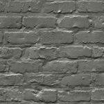 Grandeco Ideco Painted Brick Wall Pattern Faux Effect Motif Charcoal