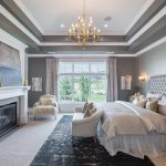 Gray Bedroom Tray Ceiling