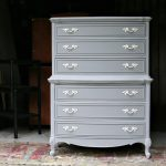 Gray Furniture Spray Painted