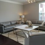 Gray Living Room Walls Leather Sofas Contemporary Sherwin