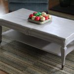 Grey Painted Coffee Table Design