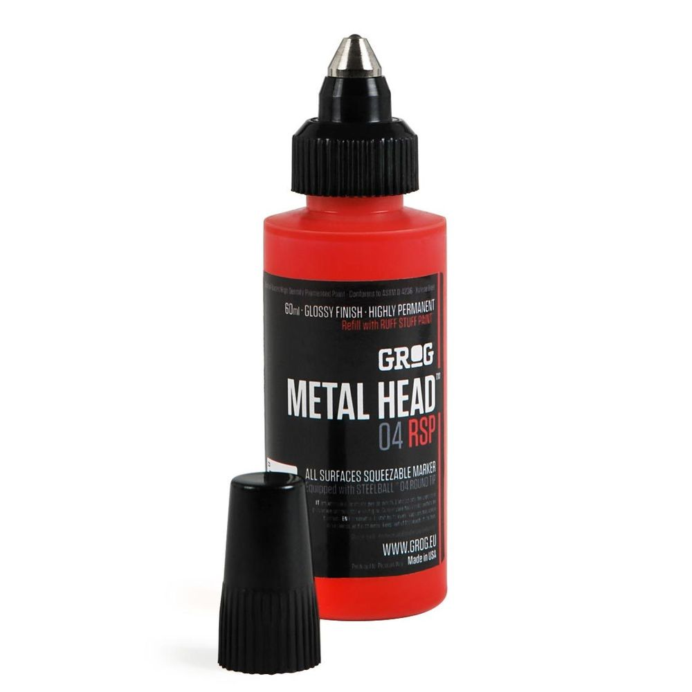 Grog Metal Head Paint Marker Steel Tip Pen Mark Any Surface Permanent