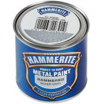Hammerite Direct Rust Exterior Metal Paint Hammered Silver Grey