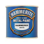 Hammerite Direct Rust Metal Paint Hammered White Litres Ray Grahams Diy