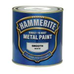 Hammerite Direct Rust Metal Paint Smooth White