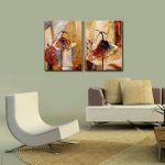 Hand Oil Painting Wall Art Framed Canvas Modern Home Painted Hanging