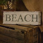 Hand Painted Beach Sign Distressed Wooden Order Your Custom Church Street