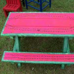 Hand Painted Childrens Picnic Table Watermelon
