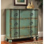 Hand Painted Distressed Blue Green Accent Chest Overstock Shopping