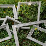 Hand Painted Distressed Frames Using Annie Sloan French Linen Chalk Paint