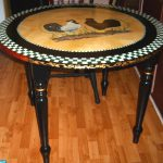 Hand Painted French Country Bristo Style Table Refurbished